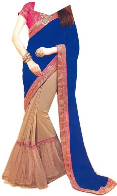 agarwal emporium Embriodered Fashion Synthetic, Net Sari
