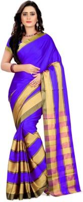 Being Feminine Striped Daily Wear Poly Silk Sari