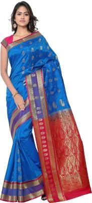 MINAXI Plain Paithani Silk Sari