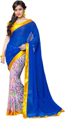 Ethnic Bliss Lifestyles Floral Print Bollywood Georgette Sari