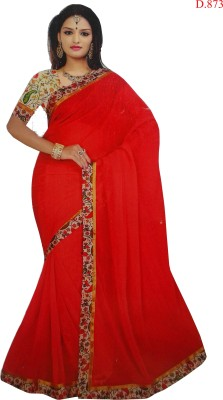 M.D's collection Plain Bollywood Georgette Sari