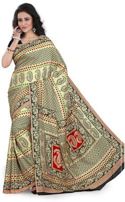SGM Paisley, Floral Print, Geometric Print, Striped, Printed Fashion Art Silk Sari