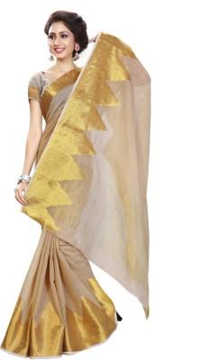 Heavendeal Geometric Print Banarasi Silk Cotton Blend Sari