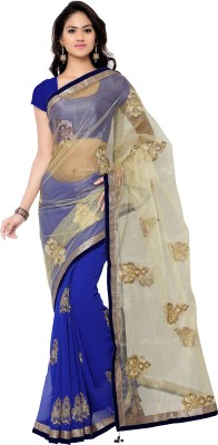 Today Deal Embriodered Fashion Net Sari