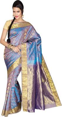 Anju Sarees Self Design Kanjivaram Handloom Pure Silk Sari