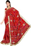 Sunita Sarees Embroidered Bandhani Silk ...