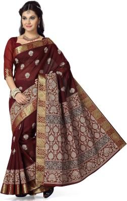 Mann Printed Gadwal Cotton Sari