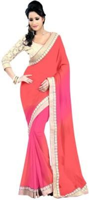 Pooja Prints Self Design Fashion Chiffon Sari