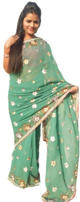 Sams Collection Embriodered Fashion Chiffon Sari
