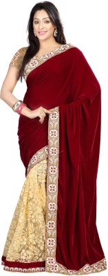 Rajesh Silk Mills Printed Fashion Velvet, Brasso Sari