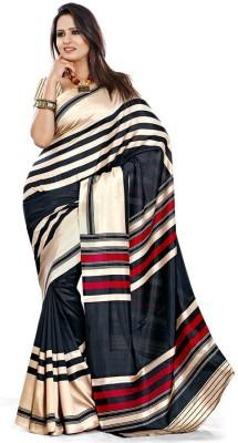 Sarovar Sarees Self Design, Geometric Print, Floral Print, Plain, Polka Print, Striped, Printed Mysore Art Silk Sari