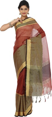Seven Square Striped Banarasi Organza Sari