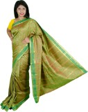 Ethino Floral Print Fashion Art Silk Sar...