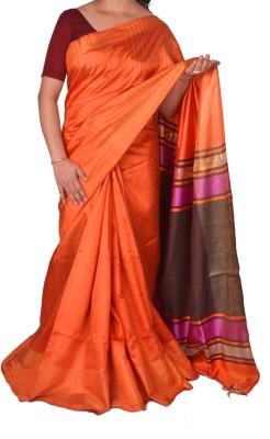 Priyanjali Boutique Plain Bhagalpuri Handloom Dupion Silk Sari