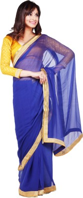 Velli Self Design Fashion Chiffon Sari