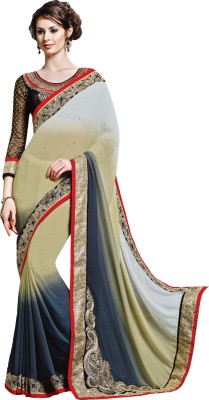 Jinaam Dress Embriodered Fashion Georgette Sari