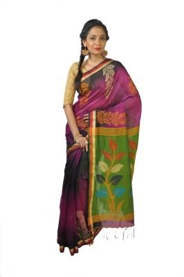 Rudrakshhh Dhakai Woven Jamdani Handloom Silk Cotton Blend Sari