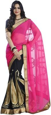 Spangel Fashion Self Design Bollywood Chiffon Sari