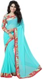Fashion Now Solid Bollywood Chiffon Sare...