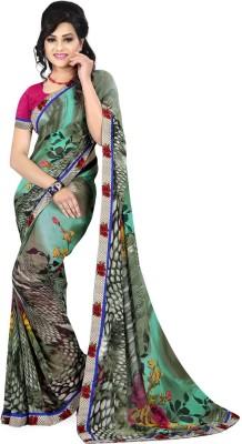 Dlines Printed Fashion Georgette Sari