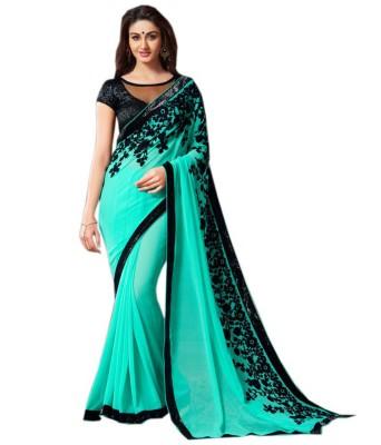 zhenith creation Embriodered Fashion Georgette Sari