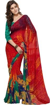 K D Collection Printed Daily Wear Chiffon Sari