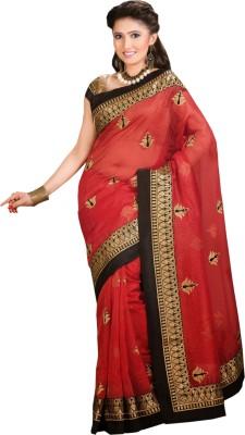 aathvika fashion Self Design Fashion Synthetic Georgette Sari