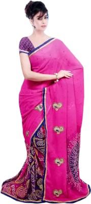 Aashi Embellished, Printed Bollywood Georgette Sari