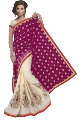 Angels Collections Embriodered Fashion Georgette Sari