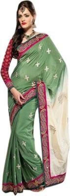 Fashion Studio Embriodered Fashion Silk Cotton Blend Sari