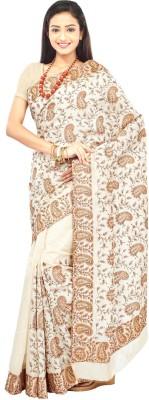 Crochetin Woven Fashion Handloom Raw Silk Sari