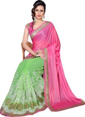 Livie Embroidered Bollywood Net Sari(Pink)