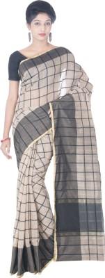 Silk Line Sarees Woven Banarasi Silk Cotton Blend Sari(Black)