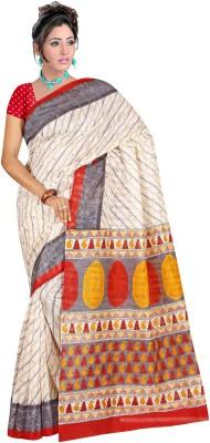 Winza Printed, Self Design Bhagalpuri Art Silk, Cotton, Silk Sari