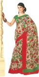 Bhavi Floral Print Fashion Art Silk Sare...