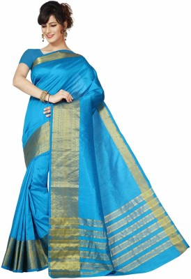 Rani Saahiba Woven Fashion Art Silk Sari(Blue)