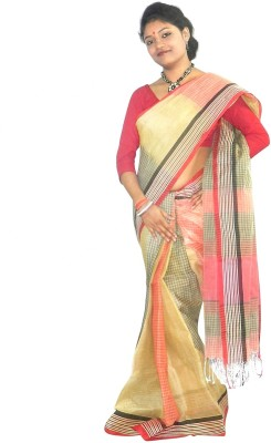 Abstra Striped Tant Handloom Cotton Sari