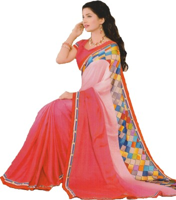 Mananstha Fashions Printed, Self Design, Embellished Fashion Jacquard Sari