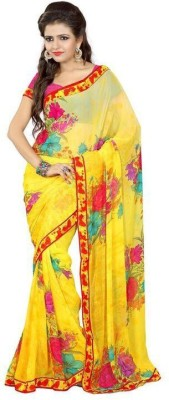 Lovit Printed Fashion Art Silk Sari