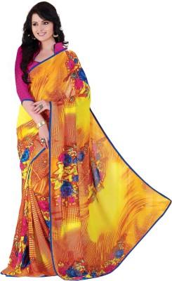Bliss Era Floral Print Chanderi Georgette Sari