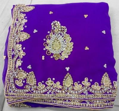Khushi Creation Self Design Bollywood Georgette Sari