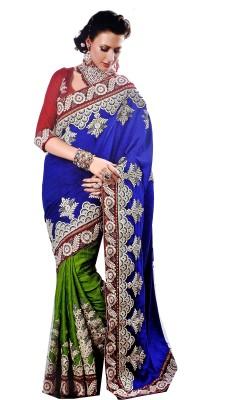 Aanchal Fashion Self Design Fashion Georgette Sari