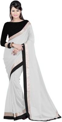 Harsiddh Fashion Solid Bollywood Georgette Sari