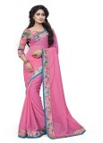 SHREE OM VALLABH Self Design Banarasi Ge...
