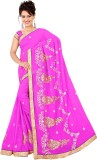 HSFS Embroidered Daily Wear Georgette Sa...