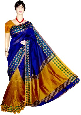 MAXX LIFESTYLE Woven, Embellished Fashion Handloom Cotton, Silk Sari