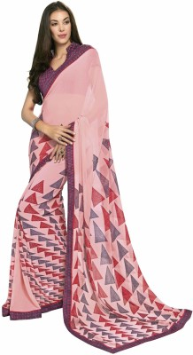 Shaily Printed Fashion Georgette Saree(Multicolor) at flipkart