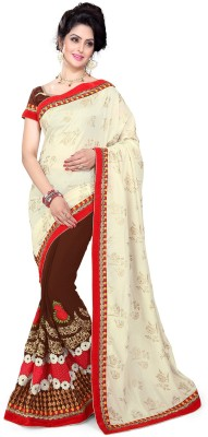 Sourbh Sarees Embriodered Fashion Cotton, Georgette Sari