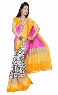 Ruaab Fashion Printed Bhagalpuri Georgette Sari