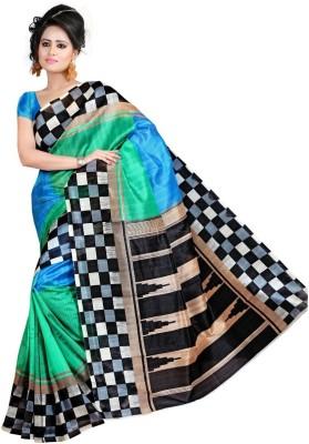 360bazaar Printed Fashion Art Silk Sari
